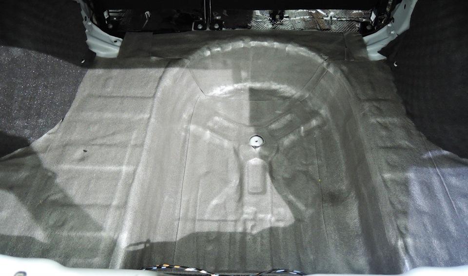 Шумоизоляция багажника Лада Веста своими руками