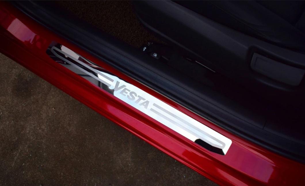 Хромированные накладки на пороги Lada Vesta и Vesta SW